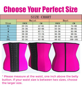 Choose Your Size Sexy Pink Skinny Waist Trainer