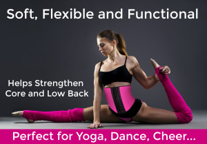 Soft Flexible Sexy Pink Skinny Waist Training Cincher
