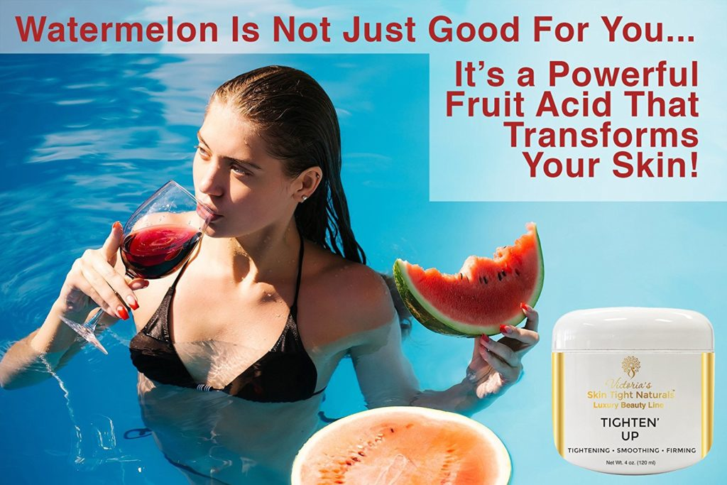 Tighten Up, Niacinimide B3, Lens Esculenta (Lentil) Fruit Extract, Pyrus Malus (Apple) Fruit Extract, Citrullus Vulgaris (Watermelon) Fruit Extract.