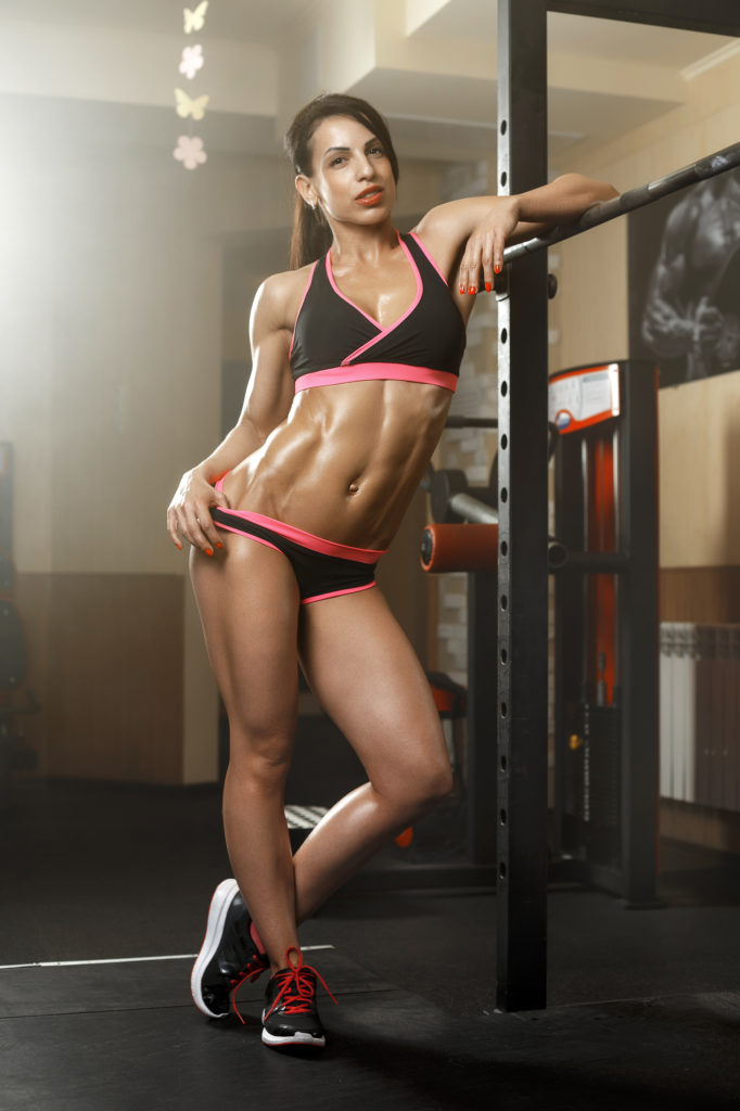 skinny waist, ripped abs core